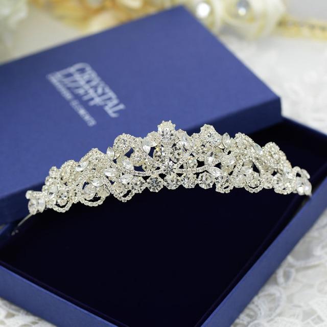 Bride Diaries Crown Jewelry Princess Tiara Wedding Party Accessories Romantic Earrings Clip Tiara