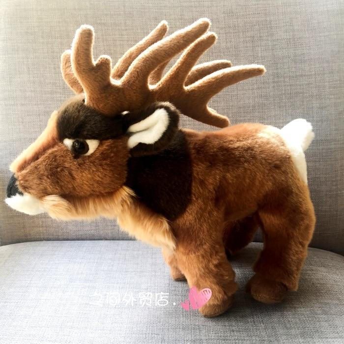 High Quality Soft Plush Doll Toys  Simulation Animal Children's Toy Eurasian Moose Large Dolls Birthday Gifts Rare
