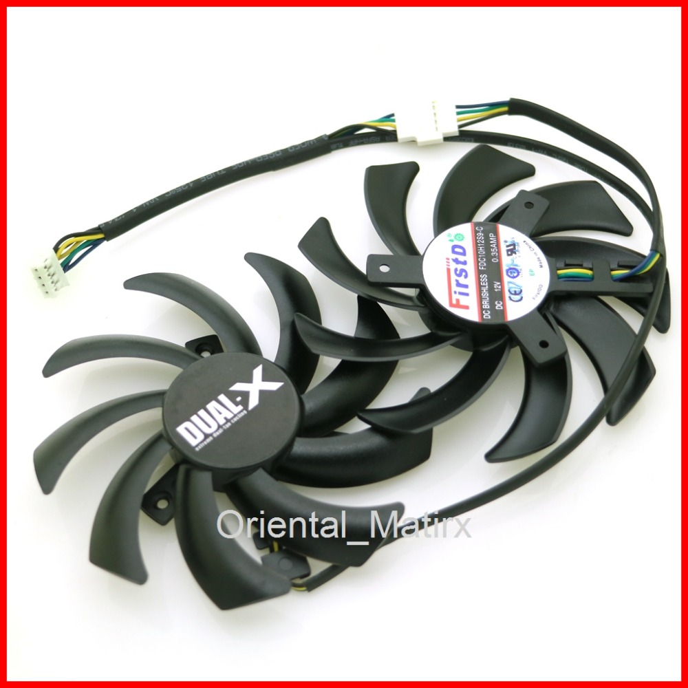 Free Shipping 2pcs lot FDC10H12S9 C 86mm VGA Fan For Sapphire HD6970 HD7870 2G HD7950 HD7970