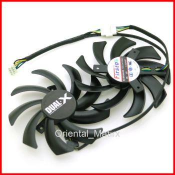 Free Shipping 2pcs/lot FDC10H12S9-C 86mm VGA Fan For Sapphire HD6970 HD7870 2G HD7950 HD7970 Graphics Card Cooling Fan image