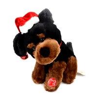 Millffy elektrische spielzeug Gehen Barking Swagging WEIHNACHTSMÜTZE Hündchen Barney die Beagle Welpen Schwingen black Dog plüsch 9 zoll-AA * 3