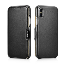 Original ICARER Luxury Genuine Leather Case For iPhone X Luxury Ultra Thin Flip Phone Cover For Apple iPhone X Original Case