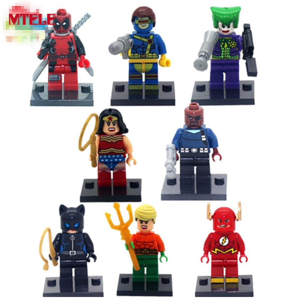MTELE 8pcs/lot Super Hero Superheroes Kid Toy Lepin Figure Building Blocks Sets Figures Brick For Kids Toy Compatible with Lego 8pcs lot movie super hero 2 avenger aochuang era kid baby toy figure building blocks sets model toys compatible with lego
