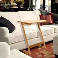 60x40x65cm Z shaped Bamboo Sofa Side Table Sandal Wood Color Sofa Side Table High Quality
