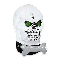 Frightfu надувные открытый Gotham череп для хеллоуина с пользовательскими разноцветные огни