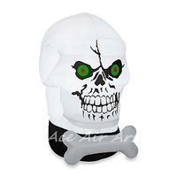 frightfu inflatable Outdoor Gotham Skull for halloween decoration with custom Multicolor lights