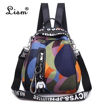 Nueva mochila multifunción para mujer, mochila Oxford impermeable, mochila antirrobo para mujer,...