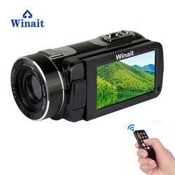 Winait remoter control digital video camera with rechargeable lithium battery 16X digital zoom 3.0 inch LCD screen