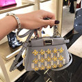 2016 мода сумка из бисера мини peekaboo кожаный мешок известный бренд дизайнер женщины сумочку высокое качество femininas сак femme