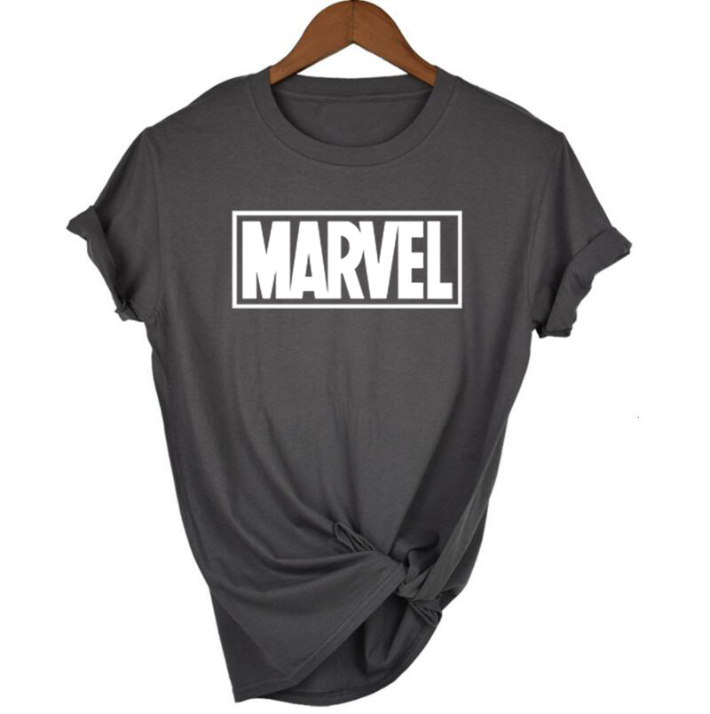 2018 Sommer Marvel Brief Gedruckt T-shirt Frau Kurzen Ärmeln Casual T Shirt Femme Tops Plus Größe Lustige T Shirts