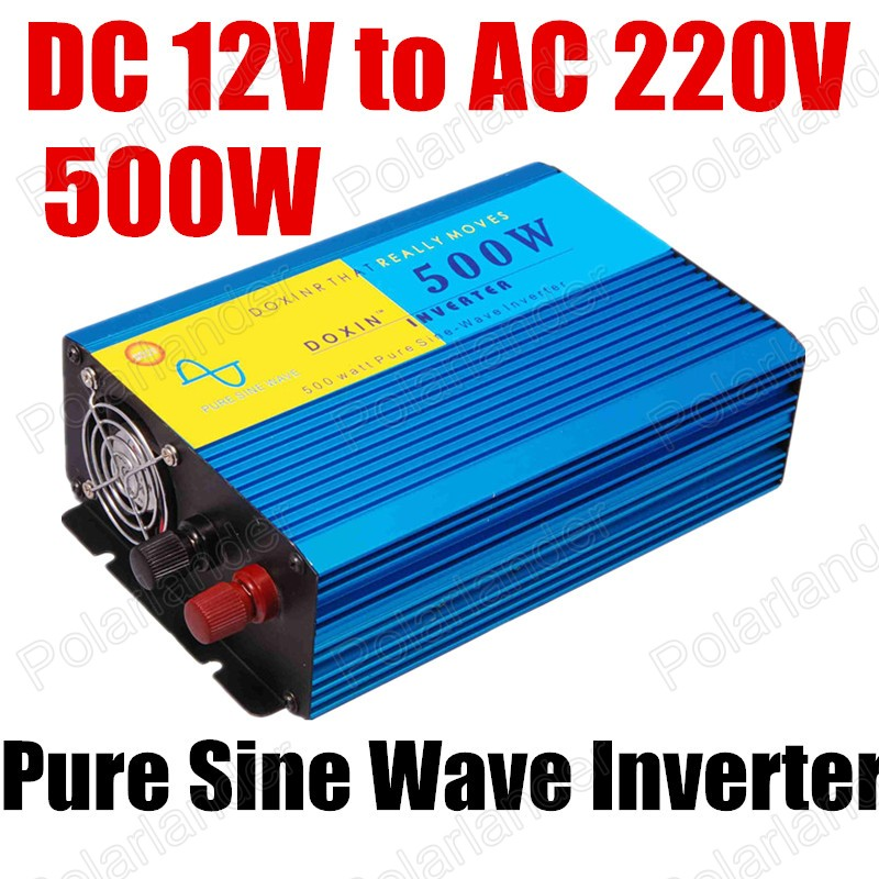 hot sale high quality DC 12V to AC 220V Pure sine wave inverter 500W CE proved Inverter Power Car Inverter Converter 50HZ