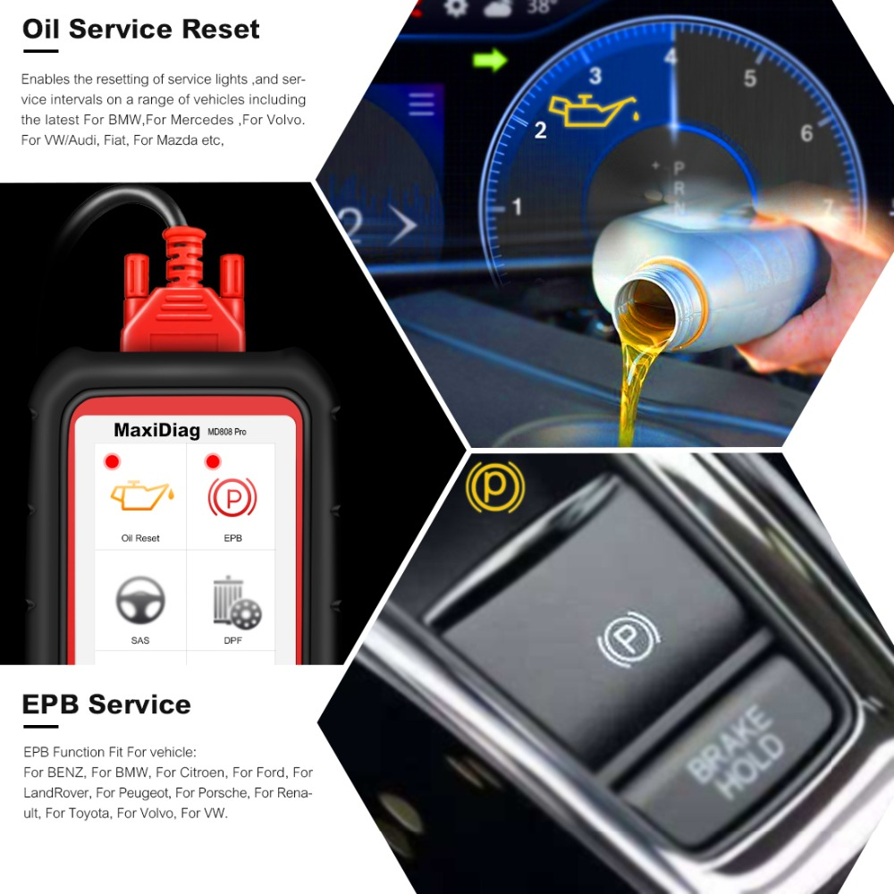 Image 2 - Autel MaxiDiag MD808 Pro OBD2 Auto Scanner Diagnostic Tool OBD 2 Car Diagnostic Scanner Eobd Automotivo Automotive Scan Tools-in Code Readers & Scan Tools from Automobiles & Motorcycles