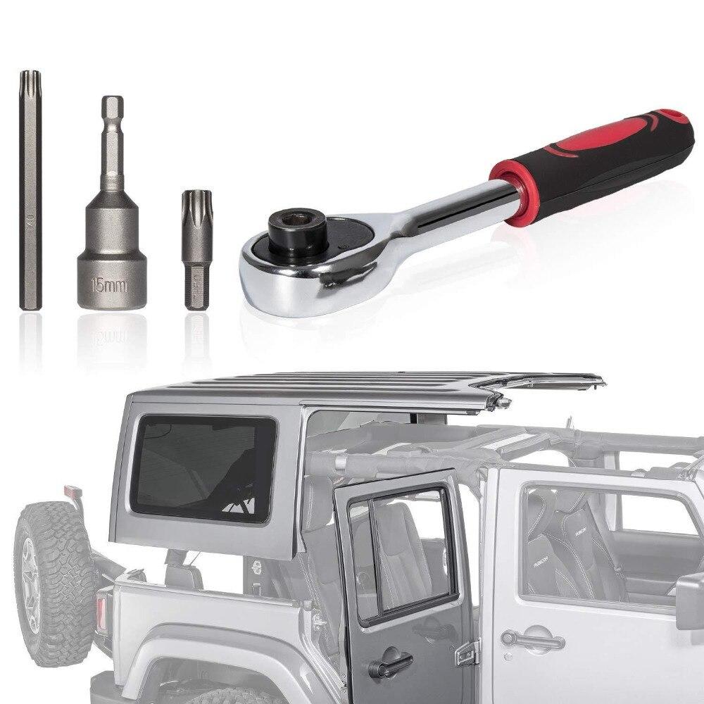 Hard Top And Door Removal Torx Set Tool Kit Replace 68361574AB 82214166AB For 2007-2019 Jeep Wrangler JK JL Rubicon Sahara Sport