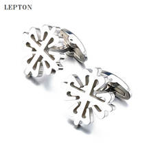 Новые запонки из нержавеющей стали для жениха бренд lepton высококачественные