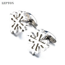 New Stainless Steel Groom Cufflinks Lepton Brand High quality Business Cuff links Mens Wedding Party Best Gift Gemelos Cufflink