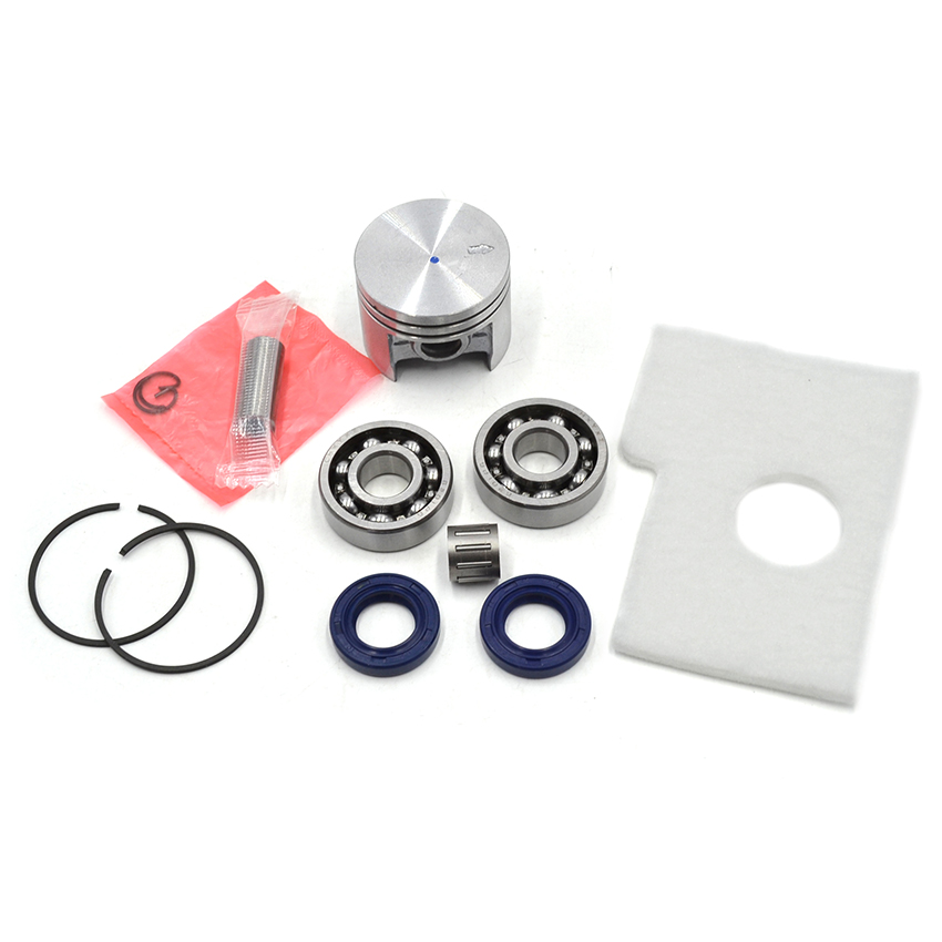 38mm Piston Pin Rings Kit / Crankshaft Bearing Oil Seals Kit /Gasket Kit For STIHL 018 MS180 Chainsaw Parts 1130 030 2004 38mm cylinder piston rings needle bearing kit for stihl ms180 ms 180 018 chainsaw