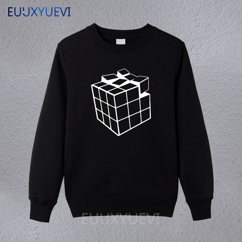 New Rubik Rubix Cube Qube Puzzle Blocks Retro Gaming Pullover Men Funny Sweatshirts Man Clothing Hoodies Camiseta Sweatshirt A Great Variety Of Goods Men's Clothing