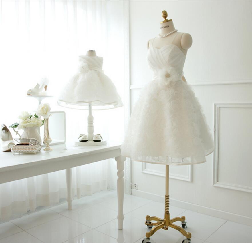 Mère fille mariage bébé robes maman et fille robe maman vie été fête robe blanche 2019 couverture de plage