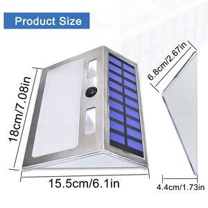 Image 4 - Güneş ev numarası plak ışık 200LM hareket sensörlü LED işıklar adres numarası ev bahçe kapı güneş lambası aydınlatma