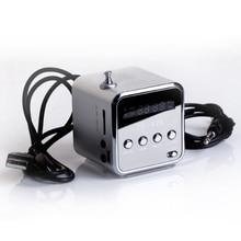 TD-V26 Haut-parleur Portable Mini et Digital avec Micro SD / TF / USB / FM – Argent