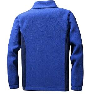 Image 2 - Мужская теплая флисовая куртка Anbican, повседневная весенняя куртка с воротником стойкой, пальто большого размера 6XL, 7XL, 8XL, 9XL, 2019