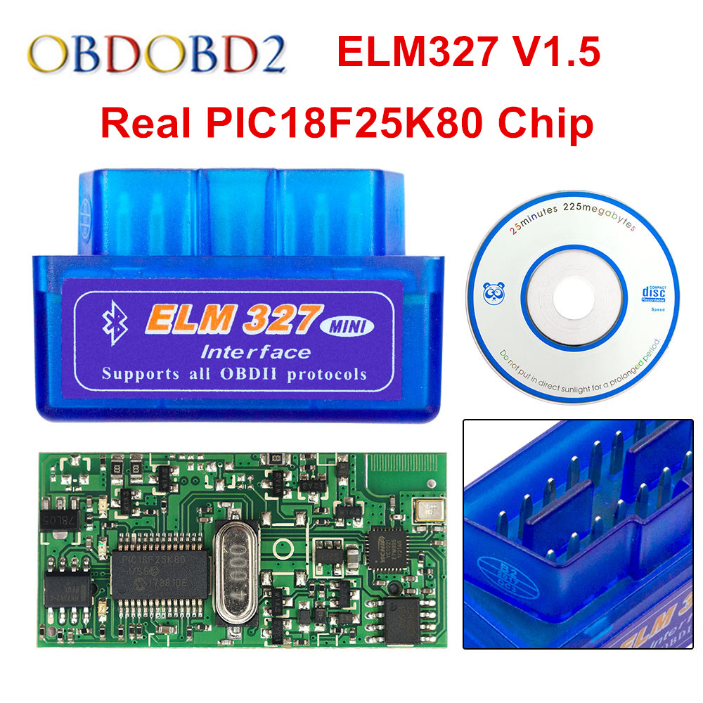 2018 Super Mini ELM327 Bluetooth V1.5 PIC18F25K80 Mini ELM 327 1.5 OBD2 Car Diagnostic Tool Support J1850 Protocols Free Ship lson elm327 super mini bluetooth obd2 auto car diagnostic scan tool black dc 12v