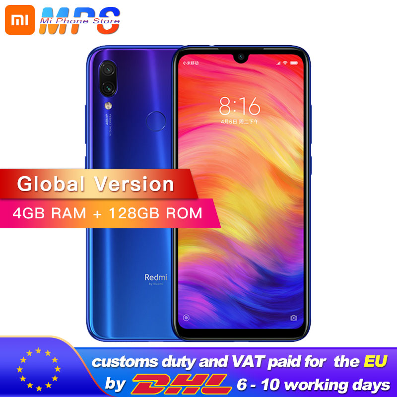 Global Version Xiaomi Redmi Note 7 4GB RAM 128GB ROM Mobilephone S660 Octa Core 4000mAh 6