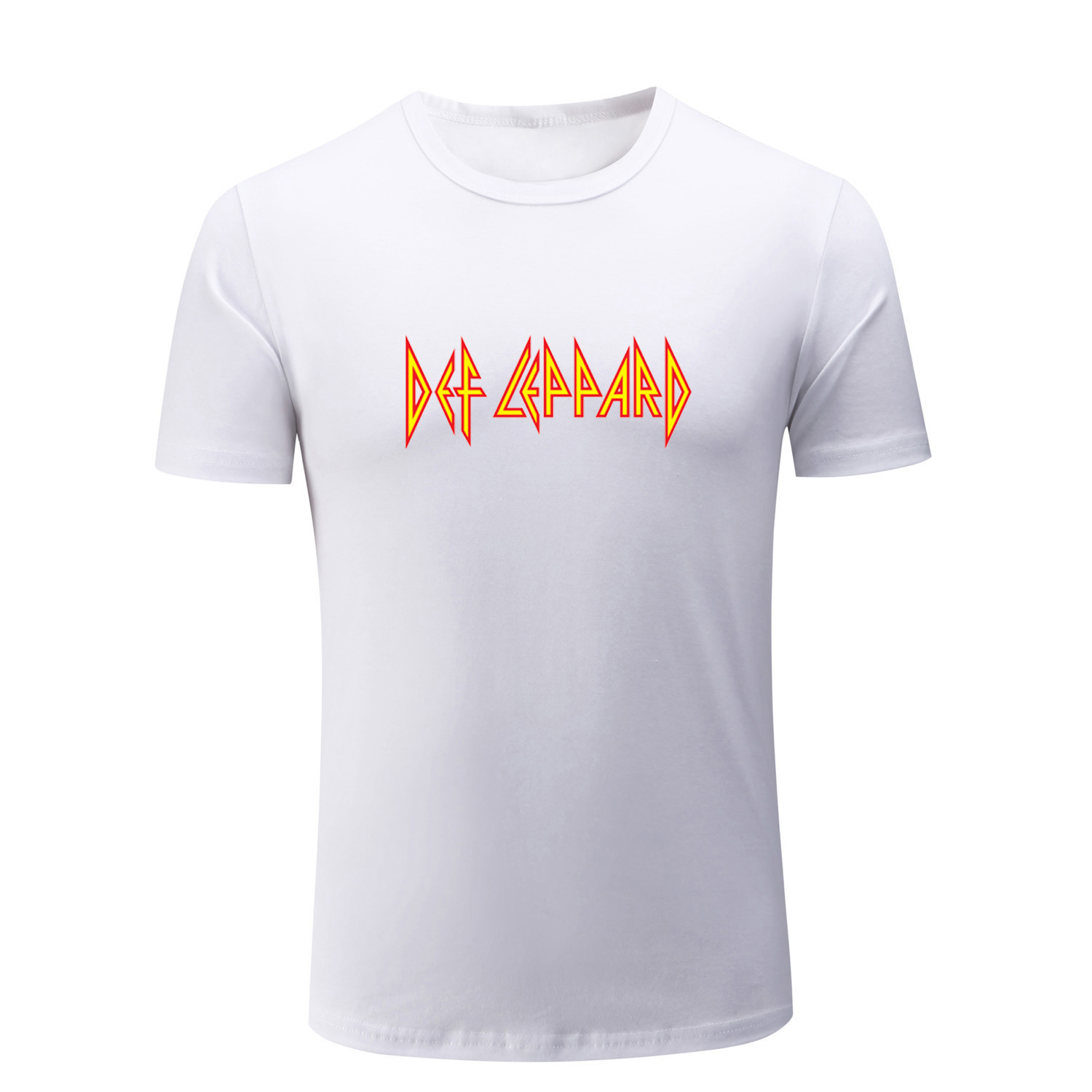Def Leppard Hard Rock Band Summer Short Sleeve T Shirt Men's Women's Boys Girls T-shirt Multi Color Cotton Tops Fashion Clothing image