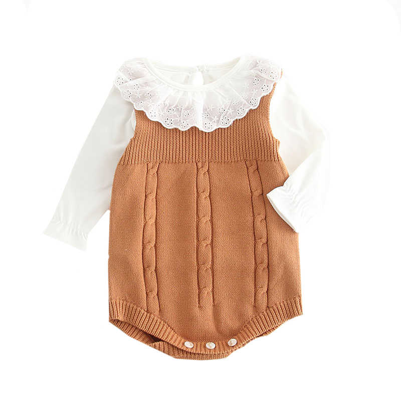 675c8668395 ... 2019 High Quality Baby Boy Knit Romper Girls Cute Crochet Rompers  Toddler Brand Spring Suspender Infant ...