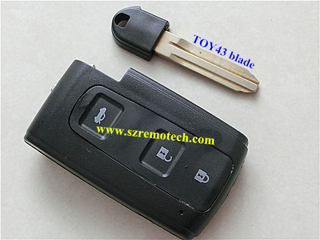 Toyota crown 3 button remote key blank & smart card cover emergency (TOY43 blade) - Rem-o-tech Store store