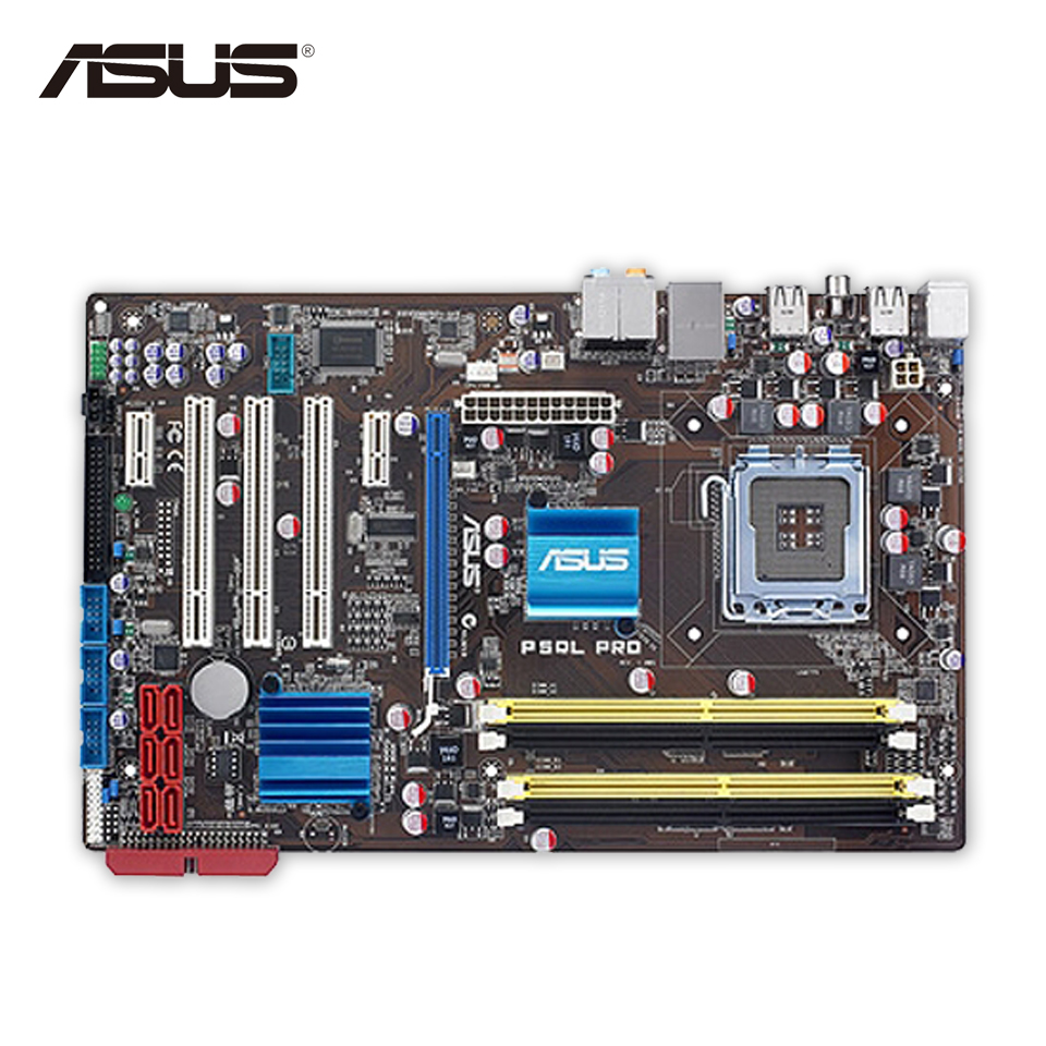 Asus P5QL PRO Desktop Motherboard P43 Socket LGA 775 DDR2 16G ATX On Sale Second-hand High Quality asus p5q deluxe desktop motherboard p45 socket lga 775 ddr2 16g sata2 usb2 0 atx second hand high quality