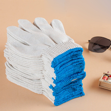 12 pairs/lot White 100% Cotton Ceremonial gloves drivers Labor protection yarn gloves thread site driver auto repair work gloves