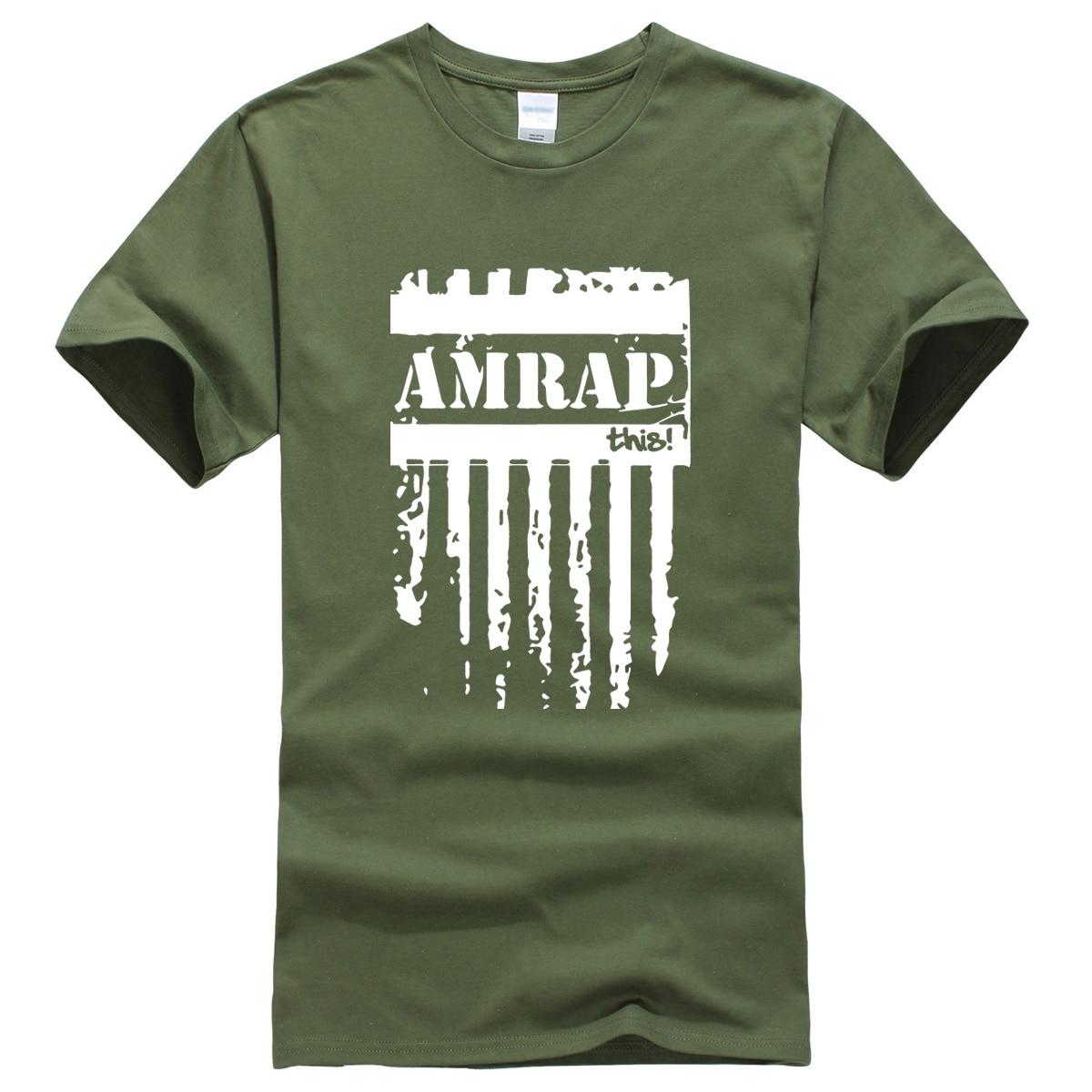 AMRAP Letter Printed 2019 Men's T-shirts Summer Brand Clothing Hip Hop T Shirt For Men Sportswear Fitness Harajuku T-shirt Top