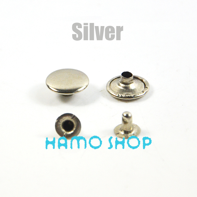 50pcs Half-Round Pearl Rivets Leather Craft Punk Studs for DIY Making Belt Shoes