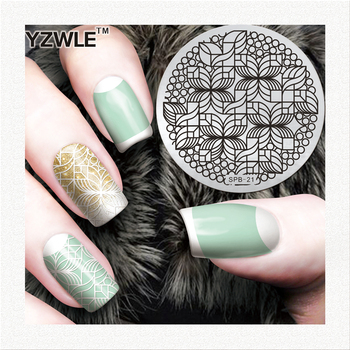 1 pc nail stamp decoration professional stamping stainless steel image plates for girl manicure image
