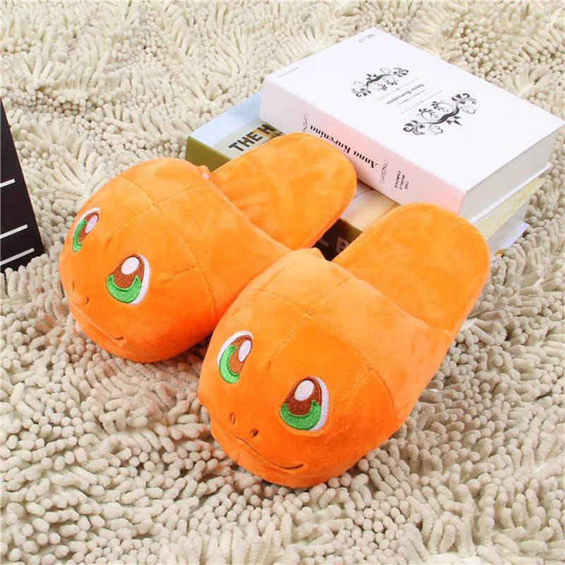 88ed7a2212fb ... 9 Styles Cartoon Slippers Home Warm Shoes Indoor Bedroom Slides Warm  Plush Pikachu Snorlax Eevee Gengar ...