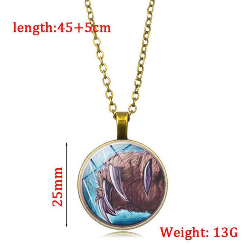 NewNew Wow قلادة العالم من علب بالادين مجوهرات رجل الأزياء قلادة برونزية قلادة مجوهرات لعشاق اللعبة