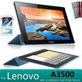 """Ультра-тонкий дизайн Смарт Стенд кожаный чехол Для Lenovo A3500 A7-50 A3500 случае для Lenovo 7 """"Tablet case + протектор экрана"""