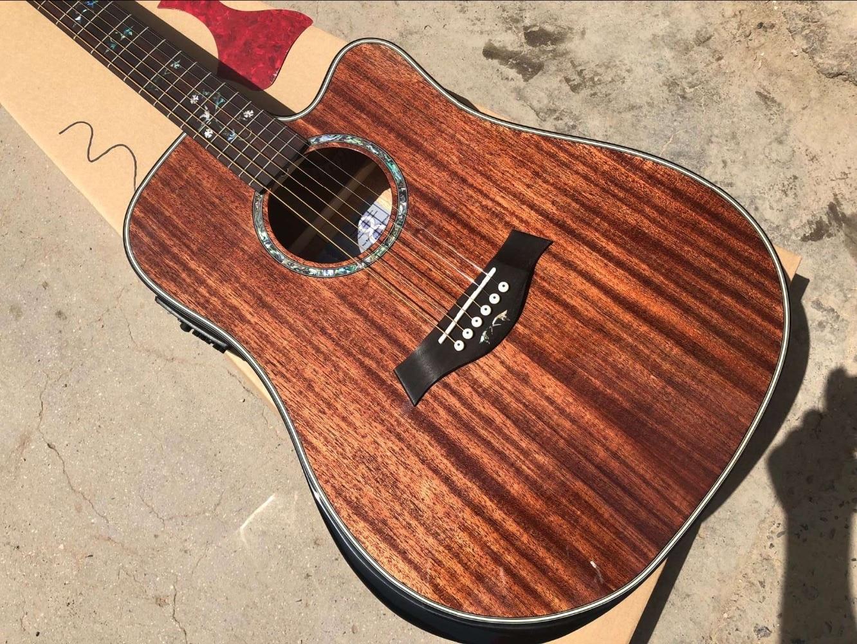 buy free shipping new guitar byron dreadnought acoustic guitar cutaway mahogany. Black Bedroom Furniture Sets. Home Design Ideas