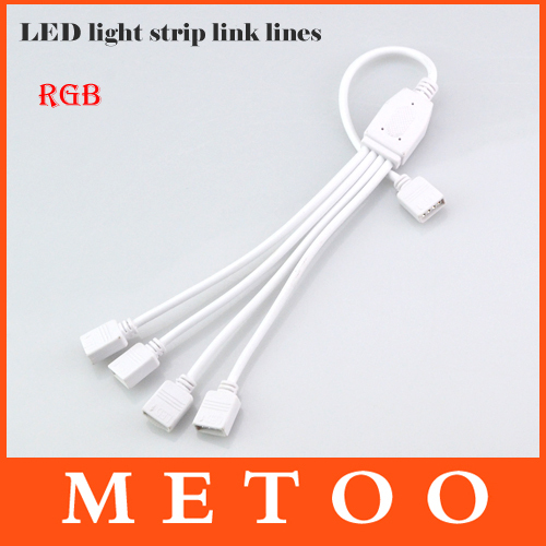 4 pin 1 to 4 led strip female adapter rgb led strip light connector 4 pin 1 to 4 led strip female adapter rgb led strip light connector link cable smd 3528 5050 ribbon string accessories in connectors from lights lighting aloadofball Image collections