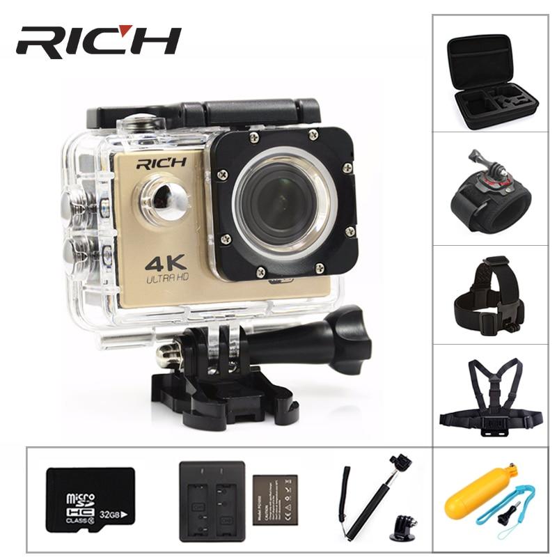 RICH F5 Sport camera WiFi 1080P 170D Len 2.0 LCD Helmet Cam go Underwater pro Waterproof action cameras Camcorder Sport DV style