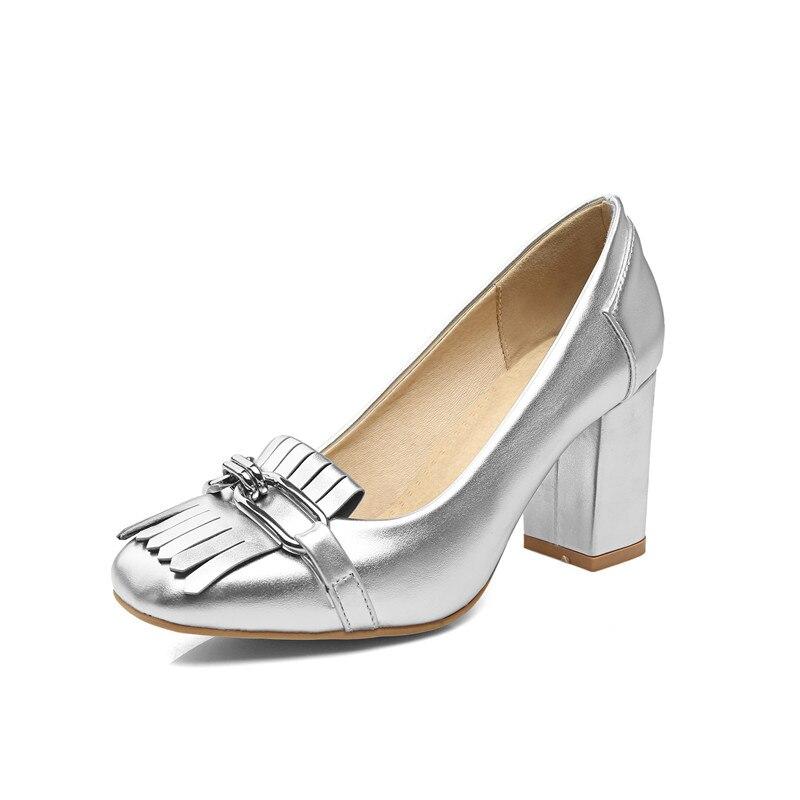 Plata silver Damas Oro 35 Tacón 43 Bombas Otoño De 7 Grande Zapatos Gold Talón 2018 Alto Cm Mujeres pink Tamaño 5 7PRcwzq7
