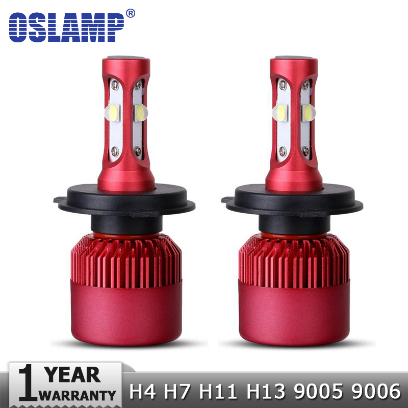 Oslamp H4 H7 H11 H13 9005 9006 SMD Chips 80W LED Car Headlight Bulb Hi-Lo Beam 9600lm 6500K Auto Led Headlamp Fog Light 12V 24V oslamp h4 h7 led headlight bulb h11 h1 h3 9005 9006 hi lo beam cob smd chip car auto headlamp fog lights 12v 24v 8000lm 6500k