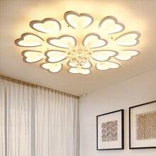 Modern Crystal Chandelier Lights for Living room Aluminum surface mounted AC90-265V Lustre Ceiling lightings