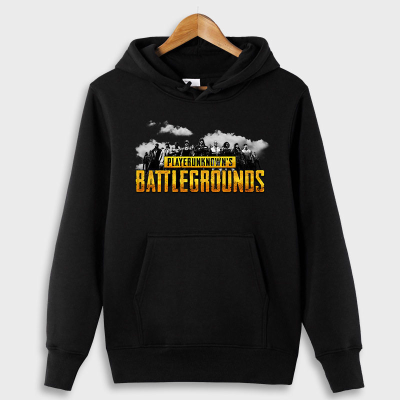 PUBG Hoodies New Fashion Men Women Long Sleeve Sweatshirts Winter Warm Hoody Hip Hop Letter Plus Velet Man Hoodies Svitshot