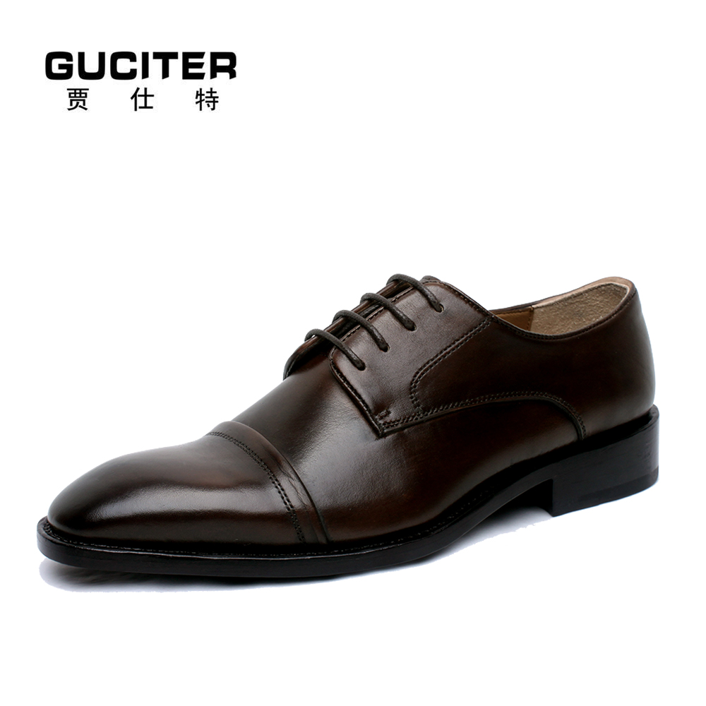 Free Shipping Manual custom handmade men Goodyear welted dress shoes brown color good-looking male order shoes large size US13.5 free shipping high grade custom made lag element face goodyear manual custom mens leather shoes business private party shoe