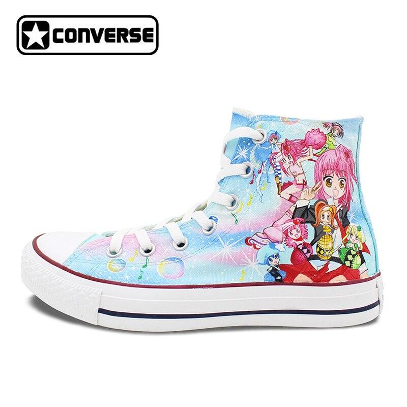 425c1af85ee81 Trampki Kobiet Mężczyzn Converse All Star Dziewczyny Chłopcy Buty Anime  Projekt Ręcznie Malowane Buty Cosplay Shugo Chara Wyjątkowe Prezenty