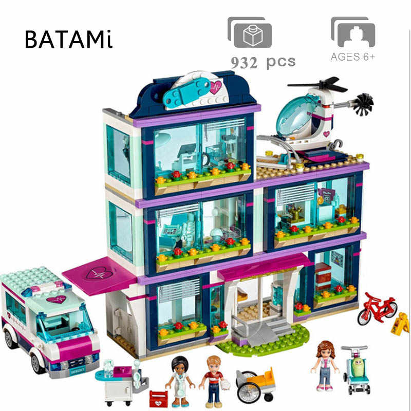 Models Building Set Compatible with Lego Brick Friends Girl Hospital House Dolphin Cruiser Vessel Ship Mia Toys 3d Brick Figures
