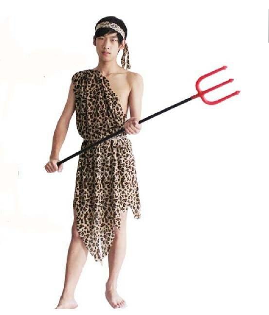 Free shipping ,short plush,Short velvet  Indian costume,leopard grain clothes,costume+headband+Bracelet,halloween costume