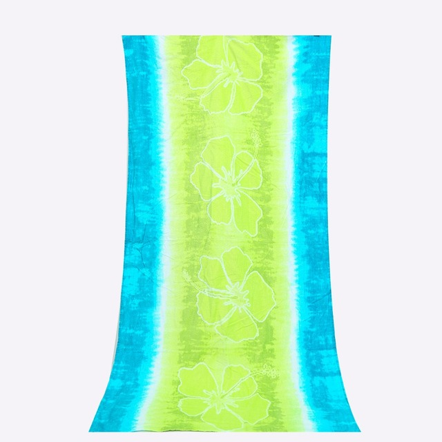 Green 100 Cotton Soft Beach Towel For S Body Shower Bath Gym Pool Spa